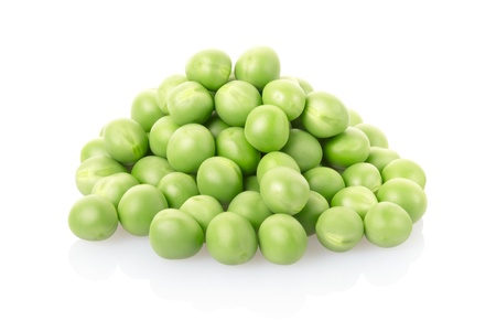 13041201 - green peas pile on white