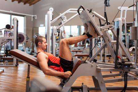 16408648 - man working out in a fitness club