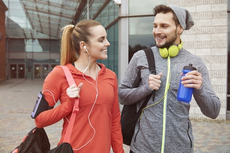 39465734 - fitness lifestyle of young couple
